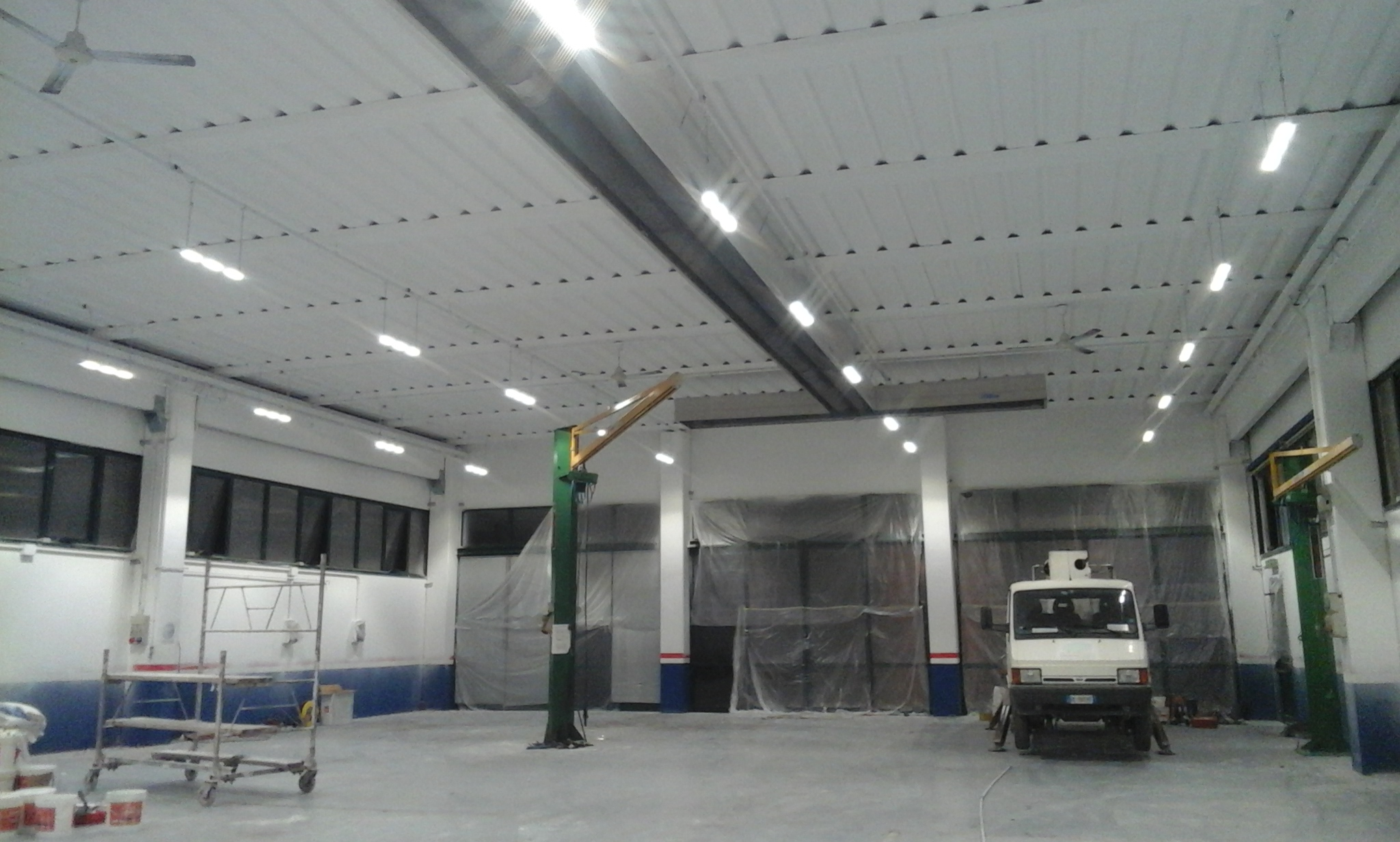 Illuminazione Capannone Industriale